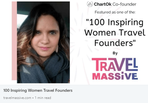 """100 Inspiring Women Travel Founders"" by Travel Massive"